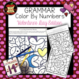 Grammar Color By Number-Valentine's Day Edition