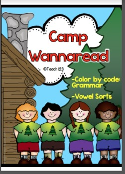 Color by Code Grammar Camping