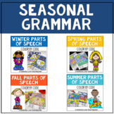 Grammar Coloring Pages Parts of Speech Bundle Seasonal