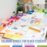 Color by Grammar Coloring Sheet Bundle: Older Students