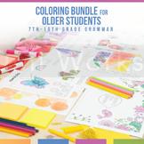 Color by Grammar Coloring Sheet Bundle: Older Students