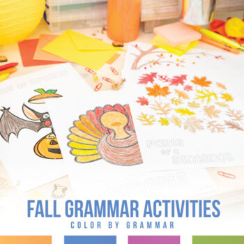 Grammar Coloring Sheet Bundle for Fall