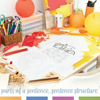 Grammar Coloring Sheet Bundle for Fall