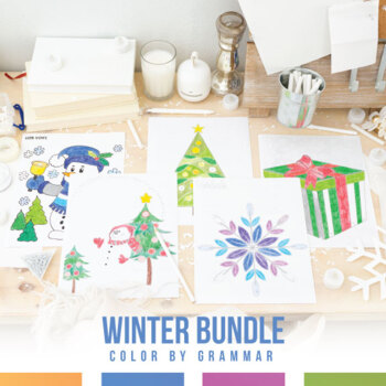 Grammar Coloring Sheet Bundle for Winter
