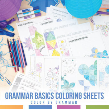 Grammar Coloring Sheet Bundle for Younger Grades