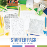 Color by Grammar: Grammar Coloring Sheet Starter Pack