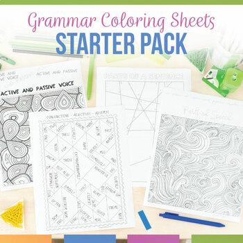 Color by Grammar: Grammar Coloring Sheet Starter Pack
