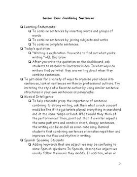 Grammar: Combining Sentences