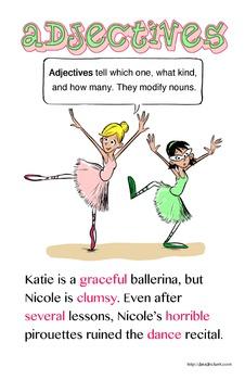 Parts of Speech Posters: Grammar Comics