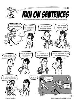 Sentence Problems (Common Writing Mistakes): Grammar Comics