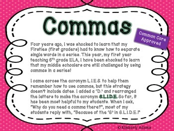 Commas Poster