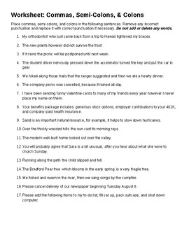 Quiz & Worksheet - ACT English Practice with Colons, Semicolons ...