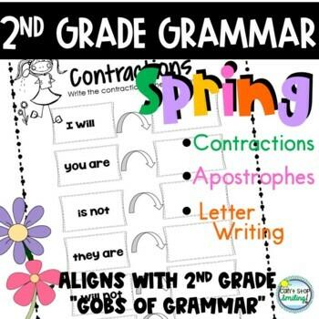 Grammar Spring Theme 2nd Grade