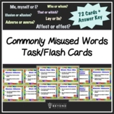Commonly Misused Vocabulary Words/Homophones, 72 Task/Flash Cards