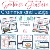 Grammar- Complete Sentence Structure Unit Bundle - Understanding Commas!