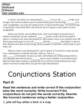Grammar Comprehensive Stations and Quiz