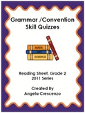 Grammar Convention Quizzes Reading Street, Grade 2, 2011 & 2013 Series