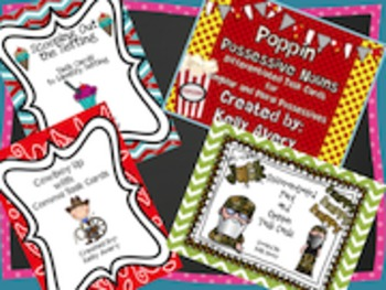 Grammar Task Card Bundle Set 2