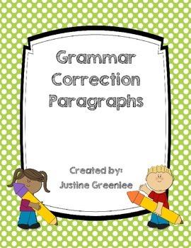 Grammar Correction Paragraphs