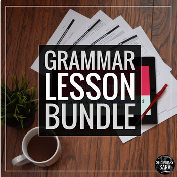 Grammar Lesson Bundle: FULL YEAR of Editable Lessons for Secondary ELA