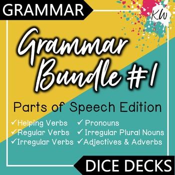 Parts of Speech Interactive Task Cards - Grammar