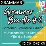 Sentence Structure: Build A Sentence & Unscramble the Sentence Games BUNDLE