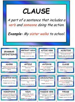 Grammar Definition Display Pack