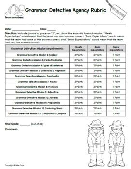 Grammar Detectives Bundle of Activities