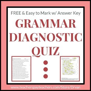 Grammar Diagnostic Quiz / Test / Activity