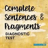 Grammar Diagnostic Test: Complete Sentences and Fragments