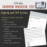 Grammar Diagnostic Test and Answer Key