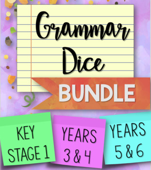 Grammar Dice BUNDLE for Key Stages 1 and 2