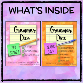 Grammar Dice BUNDLE - Key Stage 1 with Years 3 and 4