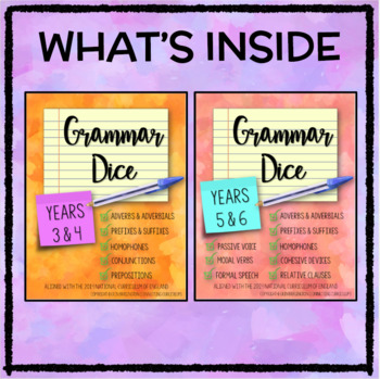 Grammar Dice BUNDLE for Key Stage 2