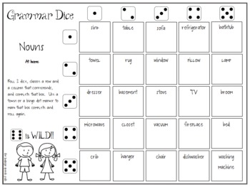 Grammar Dice and Pronoun Pop-Up
