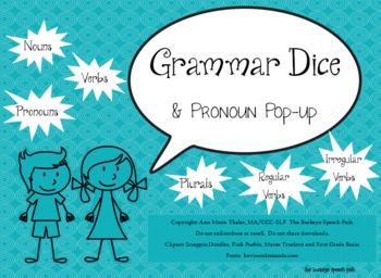 Grammar Dice and Pronoun Pop-Up