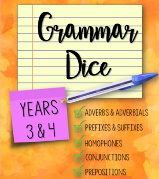 Grammar Dice for Years 3 and 4