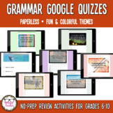 Grammar Digital Google Quizzes   Distance Learning
