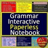 Google Classroom Grammar Paperless Activities Digital Notebook Google Slides