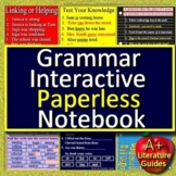 Grammar Interactive Notebook Digital Paperless Activities for Google Classroom