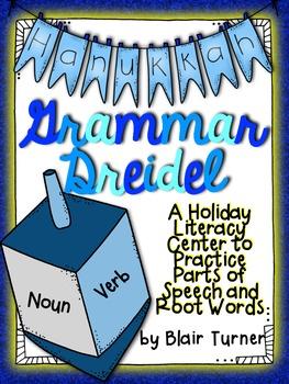 Grammar Dreidel: Parts of Speech and Root Words