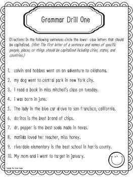 Grammar Drills - Sentences