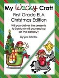 Christmas Glyph - ELA Grammar First Grade