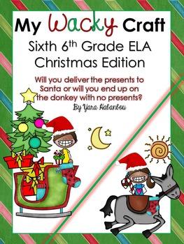 Christmas Glyph - ELA Grammar Sixth Grade