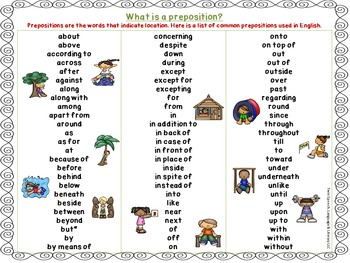 Early Pronouns & Prepositions Found At the Firehouse + FREE Prepositions Poster!