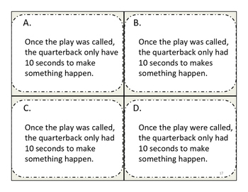 Grammar Four-Corners Kinesthetic Editing Game - FUN (Grades 5 - 8)