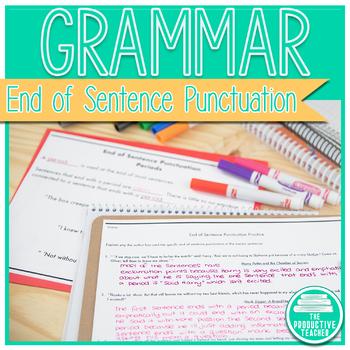 Grammar: End of Sentence Punctuation