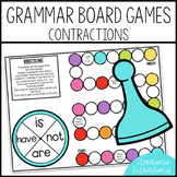 Grammar End of Year Review: Contractions Board Game