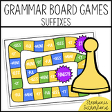 Grammar End of Year Review: Suffixes Board Game