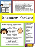 Grammar English and Spanish Posters
